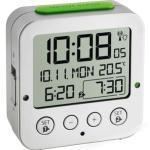 TFA Wecker 60.2528.54 Bingo Funk, digital, Snooze, Thermometer, Lichtsensor, silber