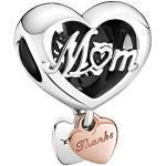 Thank You Mum Heart Charm