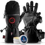 THE HEAT COMPANY - Heat 3 SMART PRO – Die Handschuh Innovation – Fingerhandschuhe und Fäustling in Einem - No.1 Fotohandschuhe, Outdoor, Skifahren - Schwarz, Größe 12, Herren, XXL