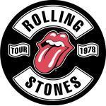 The Rolling Stones Tour 1978 Aufnähpflaster Rot-Schwarz-Weiß