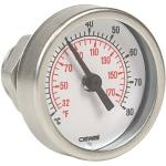 Thermometer mit Tauchhülse 3/8 inkl. Adapter auf 1/2 AG