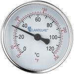 Thermometer Warmwasserspeicher Heizung 120°C analog Boiler Warmwasser Zeiger