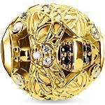 Thomas Sabo Damen-Bead Biene 925 Sterlingsilber gelbgold vergoldet K0331-414-18