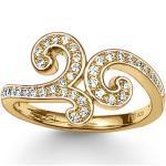 THOMAS SABO Fingerring »TR1953-414 Ring Damen Arabeske Gold-Gelb Gr. 52«