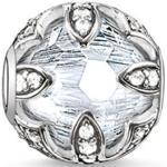 Thomas Sabo Karma Bead K0093-643-14 Lotus weiß, Sterling Silber