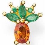 Thomas Sabo Ohrstecker - 1 Stück - H2191-472-7 - Ananas - Sterling Silber - verg. Gelbgold + Glas-Keramik Stein