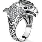 Silberne Thomas Sabo Silberringe mit Adler-Motiv mit Onyx für Herren