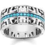 Thomas Sabo Ring asiatische Ornamente türkis