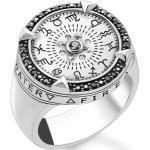 Thomas Sabo Ring Elemente der Natur silber schwarz/ weiß