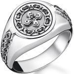 Thomas Sabo Ring Kreuz schwarze Steine schwarz