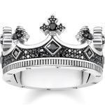 Thomas Sabo Ring Krone schwarz