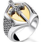Silberne Thomas Sabo Vergoldete Ringe graviert für Herren