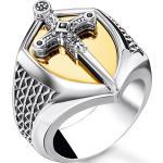 Thomas Sabo Ring Schwert gold mehrfarbig