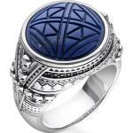 THOMAS SABO Silberring »TR2204-534-1-48, 50, 52, 54, 56, 58, 60, 62, 64, 66, 68, Ethno Totenköpfe blau«, mit imit. Lapislazuli und Zirkonia, blau