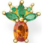 THOMAS SABO Single-Ohrstecker »Ananas, H2191-472-7«, mit Glas-Keramik Stein, grün