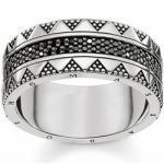 Thomas Sabo TR2107-643-11-54 - Ring - Zirkonia - Gr. 54 - Silber geschwärzt