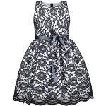 Schwarze Ärmellose Rundhals-Ausschnitt Blumenmädchenkleider mit Reißverschluss für Mädchen für den Sommer