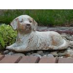 Tierurne liegender Hund aus Keramik Volumen ca. 1 Ltr. - 20559