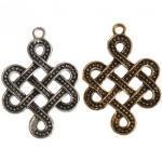 TigerTouch Keltischer / Wikinger unendlicher Knoten, Halskette- Anhänger