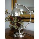 Tischlampe Lampe Jugendstil Silber Antik Bankerlampe Schreibtischlampe Bauhaus