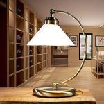 Tischleuchte im Jugendstil E27 Fassung 230V in bronze antik mit Schalter Tischlampe