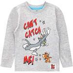 Tom and Jerry Jungen Langarmshirt Grau 92
