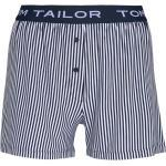 TOM TAILOR Damen Gestreifte Pyjamashort, blau, Gr.38