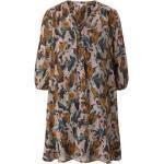 Braune 3/4-ärmelige Tom Tailor Denim Mini Damenkleider