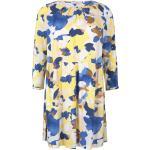 Gelbe Nachhaltige Langärmelige Tom Tailor Mini Freizeitkleider für Damen Übergrößen