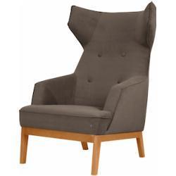 TOM TAILOR Ohrensessel COZY, im Retrolook, mit Kedernaht und Knöpfung, Füße Buche natur beige Sessel Hocker Möbel sofort lieferbar