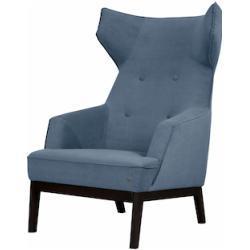 TOM TAILOR Ohrensessel COZY, im Retrolook, mit Kedernaht und Knöpfung, Füße wengefarben blau Sessel Hocker Möbel sofort lieferbar