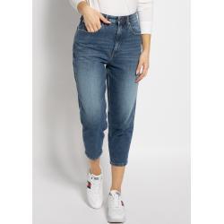 Blaue Tommy Hilfiger Mom-Jeans & Karottenjeans mit Knopf für Damen
