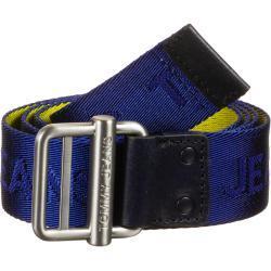 Tommy Jeans Logo Webbing 3.5 Gürtel, Gr. 85 cm, Herren, blau gelb