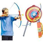 TONGJI Pfeil Und Bogen Kinder Set Mit 3 Starken Saugnapfpfeilen Spielzeug Schießen ab 6 -10Jahre
