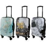 TOPMOVE® Handgepäckkoffer, 30 l Fassungsvermögen, mit 4 Rollen, ABS-Polycarbonat-Gehäuse