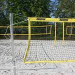 Topspin Beachtennis- und Beachvolleyball Netz - Mobiles Netz für Strände, Parks und Gärten