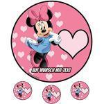 Tortenaufleger Geburtstag Tortenbild Zuckerbild Oblate Motiv: Disney Minnie Maus 01 (Oblatenpapier)