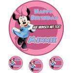 Tortenaufleger Geburtstag Tortenbild Zuckerbild Oblate Motiv: Disney Minnie Mouse 31 (Oblatenpapier)