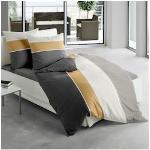 TRAUMSCHLAF Bettwäsche Memphis, besonders weicher Griff schwarz nach Größe Bettwäsche, Bettlaken und Betttücher