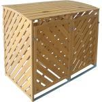 TrendLine Mülltonnenbox aus Holz für 2 x 240 l Mülltonnen (GLO692503206)