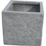 Graue TrendLine Globus Rechteckige Pflanzgefäße aus Granit