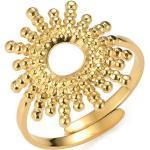 Tribal Spirit Steel Fingerring »Ring Sun«, goldfarben, Gelbgold