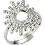 Tribal Spirit Steel Fingerring »Ring Sun«, silberfarben, Silber
