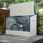 Trimetals Metallgerätehaus Fahrradbox hellbeige
