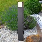 TRIO Ebro LED Pollerleuchte mit Steckdosen B: 10 H: 80 T: 10 cm, anthrazit/weiß 422167142, EEK: A+