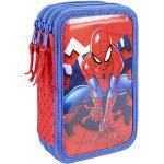Triple-Federmäppchen Spider-Man blau/rot