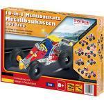 TRONICO Metallbaukasten 10 Modelle 10-in-1 Konstruktionsspielzeug Mint STEM Modellbau Bauen mit Werkzeug