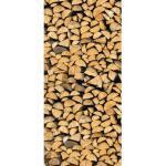 Türfolie Firewood 98,5x211 cm selbstklebend