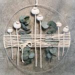 Türkranz Kranz Ring Gräser Wandkranz Trockenblumen Natur Natürlich Hoop Fensterdeko