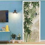 Türtapete selbstklebend Bambus TürPoster 3D Bewirken Fototapete Türfolie Poster Tapete Abnehmbar Wandtapete für Wohnzimmer Küche Schlafzimmer 77x200cm